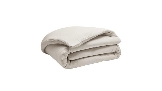 Housse de couette - Tendresse blanche - gaze de coton