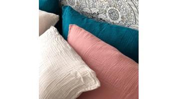 Taie en gaze de coton - Tendresse (toutes les couleurs)
