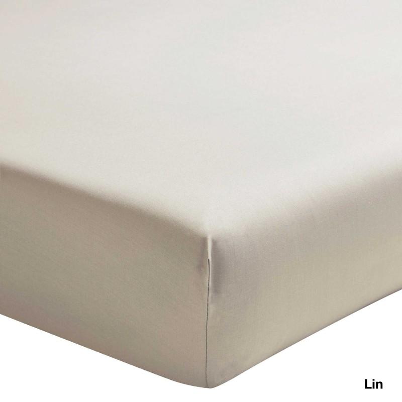 Ce drap housse 100 coton est frais et a un toucher agr able for Drap housse en percale de coton