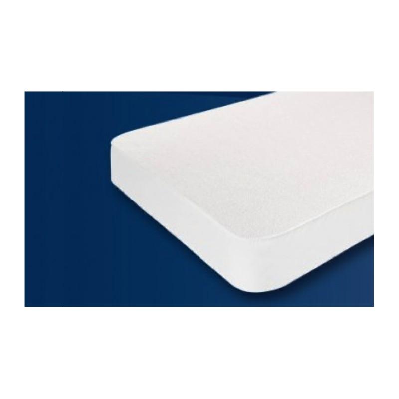 prot ge matelas blanc en molleton 100 coton toutes les dimensions. Black Bedroom Furniture Sets. Home Design Ideas