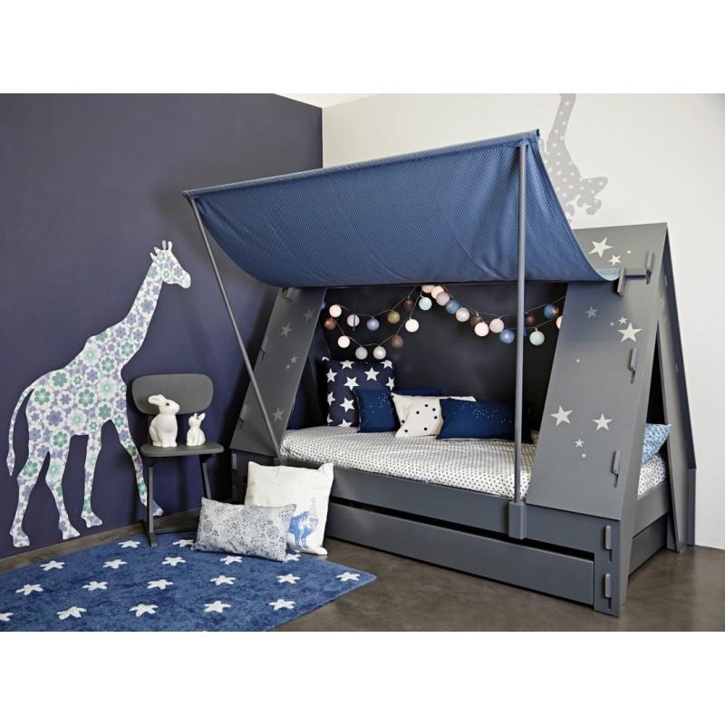 lit enfant en forme de tente avec tiroir lit marque mathy by bols. Black Bedroom Furniture Sets. Home Design Ideas