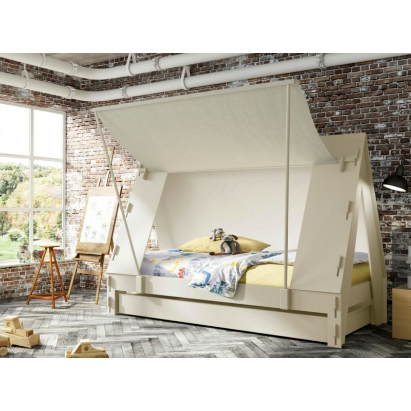 lit enfant en forme de tente avec tiroir lit marque mathy by bols. Black Bedroom Furniture Sets. Home Design Ideas