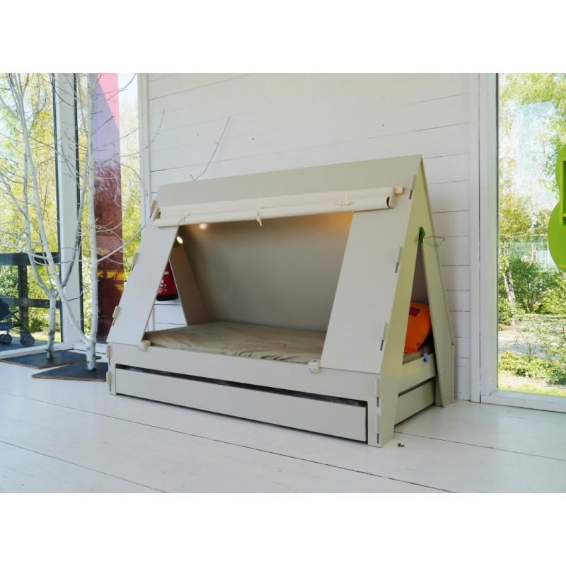 lit enfant en forme de tente avec tiroir lit marque mathy. Black Bedroom Furniture Sets. Home Design Ideas