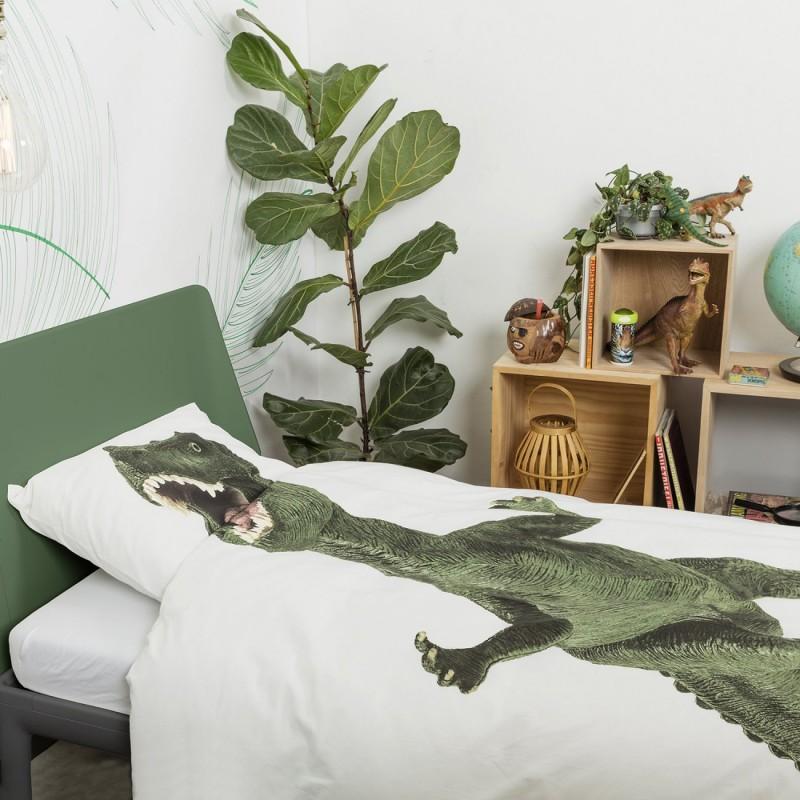 housse de couette enfant avec dinosaure 100 coton. Black Bedroom Furniture Sets. Home Design Ideas