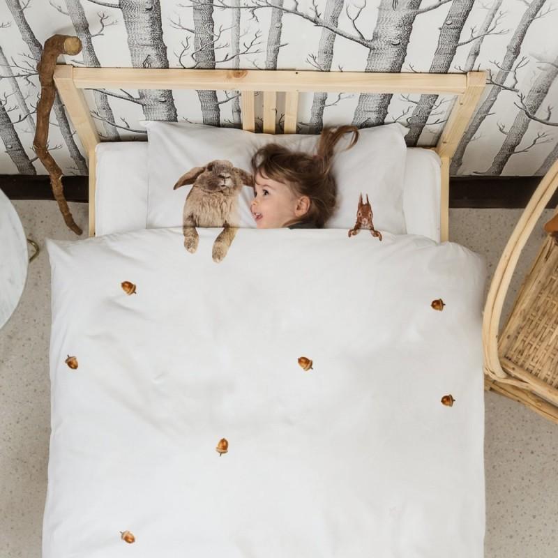 housse de couette enfant 100 coton avec animaux taille 1 personne. Black Bedroom Furniture Sets. Home Design Ideas