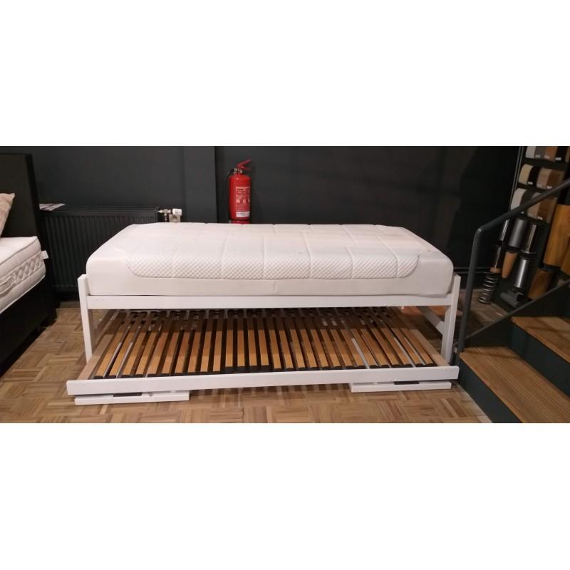 lit gigogne blanc p re dodo sp cialiste en literie. Black Bedroom Furniture Sets. Home Design Ideas